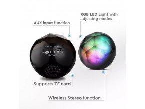 Mini przenośny głośnik Bluetooth 3W, 1200mAh baterii
