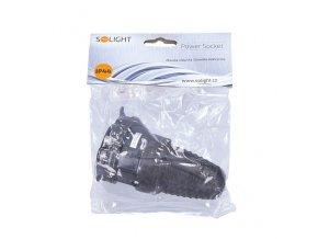 Gumowa szuflada Solight mokra, bezpośrednia, IP44, czarna