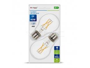 Żarówka LED E27, 4W (400lm), A60, opakowanie 2 szt
