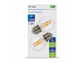 Żarówka LED E27, 4W (400lm), G45, opakowanie 2 szt