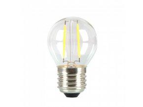 E27 LED Retro filament Żarówka 4W (400lm), G45, biała ciepła 2700K