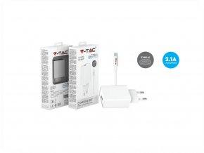 Zestaw ładowarki podróżnej, kabel USB-C, biały