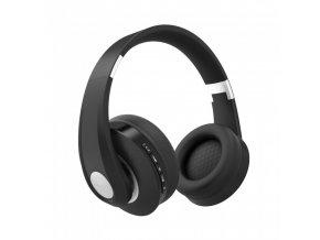 Słuchawki bezprzewodowe BlueTooth 500 mAh, czarne, ładowanie 2-3h, maks. 10 godzin wytrzymałości