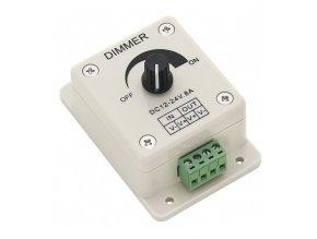Ściemniacz do taśm LED mechanicznych (DM1), 12V/24V; 8A, maks. 96W