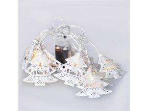 Łańcuch choinkowy Solight LED, metal, biały, 10LED, 1m, 2xAA, IP20