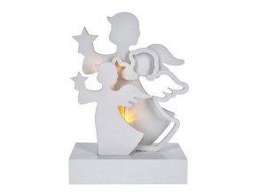 Solight anioły LED, drewno, kolor biały, 2xAA