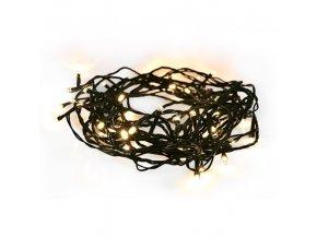 Świąteczny łańcuch Solight LED, 50LED, 5 m, przewód 3 m, 8 funkcji, IP44, 3xAA, ciepła biała