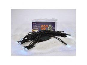 Świąteczny łańcuch Solight LED, 3m, 20xLED, 3xAA, białe światło, zielony kabel