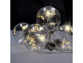 Solight zestaw bombek LED z gwiazdkami, rozmiar 6 cm, 6 sztuk, 30 LED, minutnik, tester, 3xAA