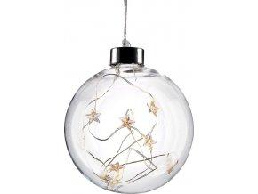Świąteczna szklana kulka LED Solight, 10LED, 2xAA, IP20