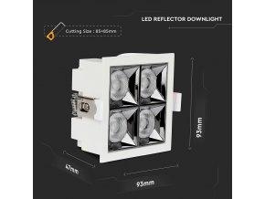 Naświetlacz LED 16W (1280lm), układ Samsung, 38°