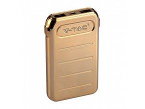 Power Bank 10.000mAh, 2XUSB + USB-C, kolor złoty