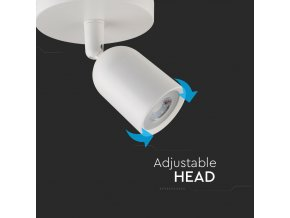 Lampa LED, 1xGU10, maks. 35W, IP20, biała