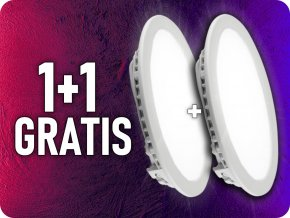 Panel LED 18W (1500LM), okrągły, 1+1 gratis!