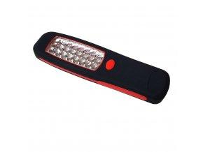 Latarka LED w dłoni + hak + magnes, 24LED, baterie w opakowaniu