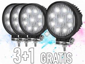 LED Epistar Lampa robocza, 27W, okrągła 2200 lm, 9-32V, IP67, 3+1 gratis!