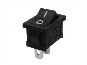 Przełącznik kołyskowy I/O, 6A/250V, czarny