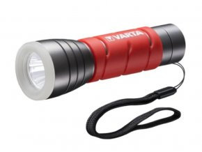 Latarka Varta LED Outdoor Sports, 3xAAA, 5W, dwa tryby, czerwona