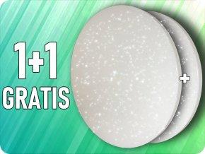 Lampa sufitowa LED 24W, 1440lm, gwiazda, zmiana koloru 3000K-6000K, 1+1 GRATIS! ✩