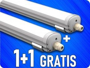 Wodoodporna lampa LED 18W, 60cm, 1440 Lm, IP65, 1+1 gratis!