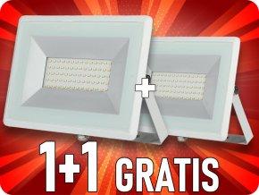Naświetlacz  LED 50W (4250lm),  biały, 1+1 gratis!