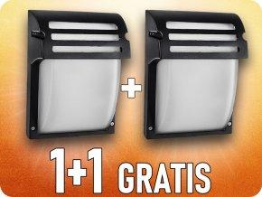 Lampa ścienna, E27, IP44, czarna, 1+1 gratis!