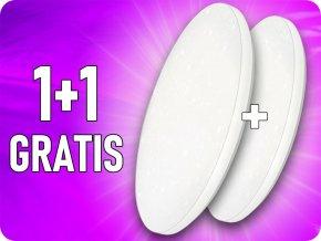 Lampa sufitowa LED 12W (720lm), gwiazda, zmiana koloru 3000K-6000K, 1+1 gratis!