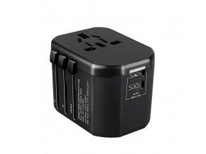 Uniwersalny adapter podróżny GOworld, 2xUSB, 200 krajów