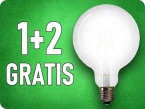 E27 LED ŻARÓWKA 7W, 840LM, G125, MLECZNA, 1+2 gratis!