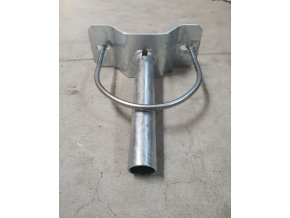 Wysięgnik do masztu betonowego 300mm + przyłącze. materiał, średnica 60mm, 5°, ocynkowany