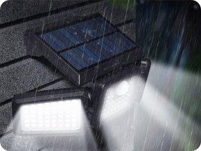 Lampa solarna LED ze światłem i czujnikiem PIR Blitzwolf, zasięg 8m, 700LM, IP64, 1800mAh, 6500K