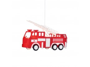 Lampa wisząca Wóz strażacki 2xE27