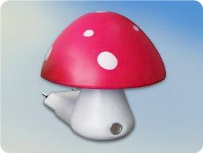 Lampka nocna Grzybek z czujnikiem 0,4W 6400K różowy + biały