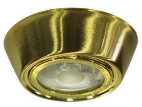 Kinkiet do G4, 12V, IP45, okrągły, złoty