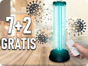 38W Dezynfekująca / bakteriobójcza lampa ultrafioletowa z czujnikiem i pilotem 7+2 gratis!