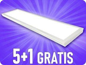 Panel LED natynkowy 40W z zasilaczem, 120x30 cm, 4000lm, 5+1 gratis!