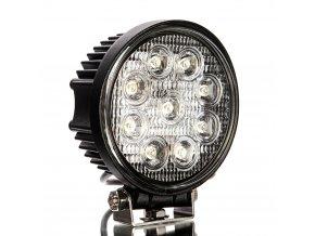 LED Epistar Lampa robocza, 27W, okrągła 2200 lm, 12/24V, IP67