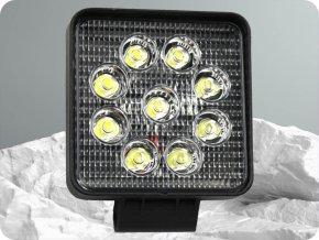 LED Epistar Lampa robocza, kwadratowa, 27W (2200lm), 12/24V, IP67