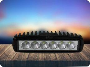 LED Epistar Lampa robocza, kwadratowa, 18W (1350lm), 12-24V, 6500K, IP67