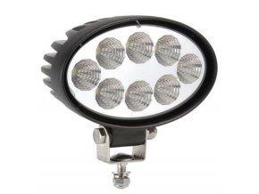 LED Epistar Lampa robocza, elipsowa, 24W, 9-32V, IP67
