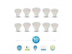GU10 Żarówka LED 7W - opakowanie 10 sztuk