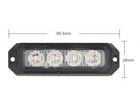 Lampa błyskowa-stroboskop LED, 12W, 12-24V,  pomarańczowa, IP67