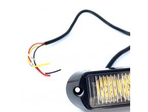 LED CREE Lampa Błyskowa, 9W, 12-24V pomarańczowa, IP67