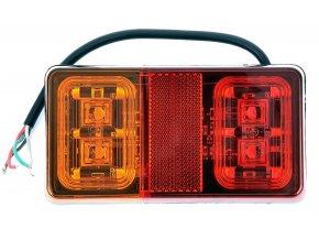 Tylne światło 16xLED do ciężarówki, 12-24 V, lewe/prawe