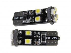 Żarówka samochodowa LED T10, 8 x led, canbus