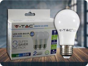E27 Żarówka LED 5W (420Lm), A55 - 3 PACK