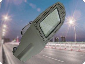 Lampa uliczna LED z czujnikiem zmierzchu 50W (4000LM), szara