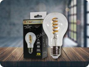 LED Filament Żarówka, spirala 4W,  2700K