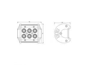 LED CREE Lampa robocza, 18W, 1800 LM, IP67