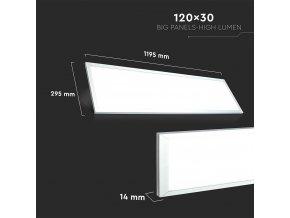 Panel LED 6258, 29W, 120x30cm (Barwa światła biała zimna)